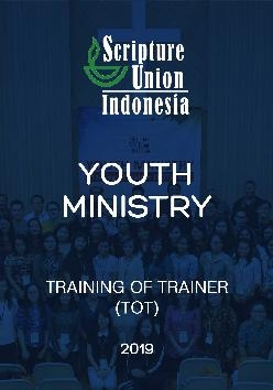 Youth Ministry: Training of Trainer